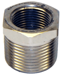 """PDA0002 3/4"""" M-NPT to 1/2"""" F-NPT Approved Reducer"""