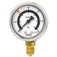 Bourdon Tube Pressure Gauge with One or Two fixed Switch Contacts - PGS21